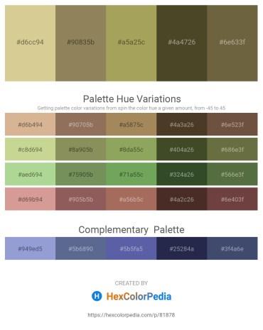 Palette image download - Tan – Dark Khaki – Dark Khaki – Dark Olive Green – Dark Olive Green