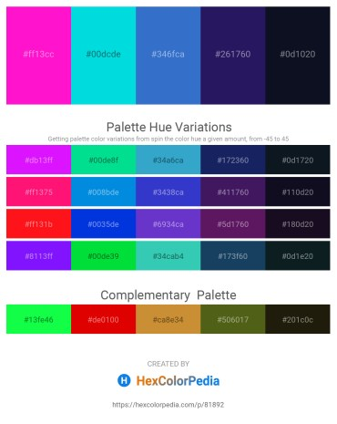 Palette image download - Magenta – Dark Turquoise – Royal Blue – Midnight Blue – Midnight Blue