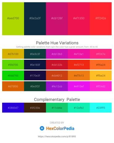 Palette image download - Chartreuse – Midnight Blue – Medium Violet Red – Crimson – Red