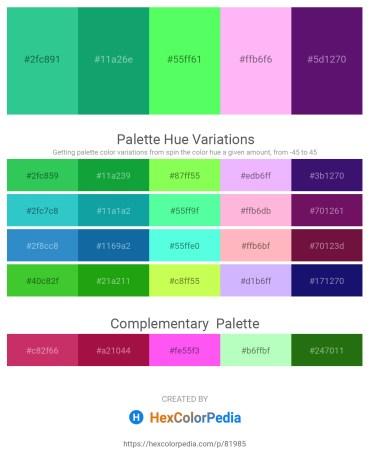 Palette image download - Light Sea Green – Light Sea Green – Pale Green – Pink – Midnight Blue
