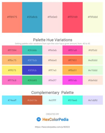 Palette image download - Light Salmon – Medium Turquoise – Misty Rose – Tomato – Old Lace
