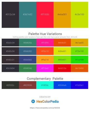 Palette image download - Black – Dim Gray – Red – Orange – Gold