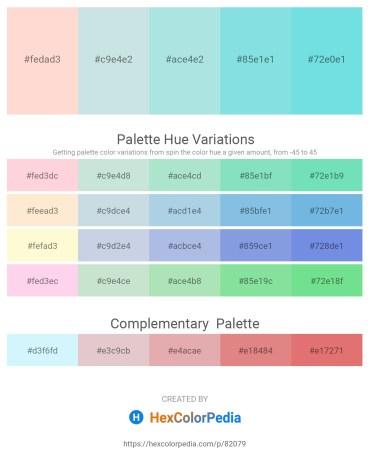 Palette image download - Misty Rose – Light Steel Blue – Powder Blue – Sky Blue – Sky Blue