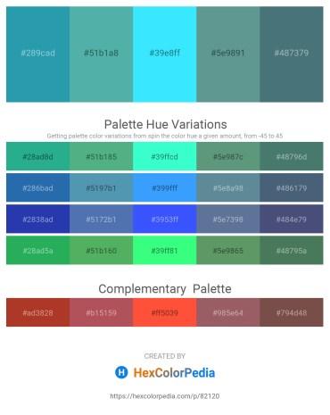 Palette image download - Light Sea Green – Cadet Blue – Aqua – Cadet Blue – Cadet Blue