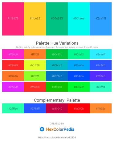 Palette image download - Deep Pink – Gold – Medium Spring Green – Aqua – Dodger Blue