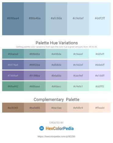 Palette image download - Cadet Blue – Light Slate Gray – Light Steel Blue – Powder Blue – Alice Blue