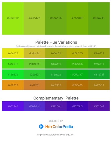 Palette image download - Chartreuse – Yellow Green – Olive Drab – Olive – Olive Drab