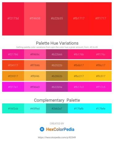 Palette image download - Crimson – Tomato – Brown – Red – Red