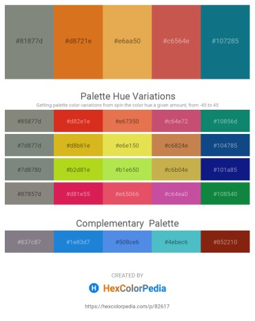 Palette image download - Gray – Chocolate – Sandy Brown – Indian Red – Teal