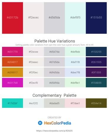 Palette image download - Crimson – White Smoke – Light Steel Blue – Pale Turquoise – Midnight Blue