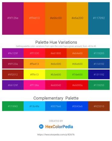 Palette image download - Medium Violet Red – Orange Red – Dark Orange – Orange – Dark Cyan
