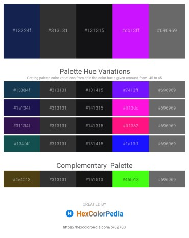 Palette image download - Midnight Blue – Black – Steel Blue – Dark Violet – Dim Gray