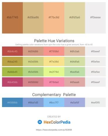 Palette image download - Peru – Tan – Light Salmon – Tan – White Smoke