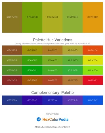 Palette image download - Olive Drab – Olive – Yellow Green – Yellow Green – Orange