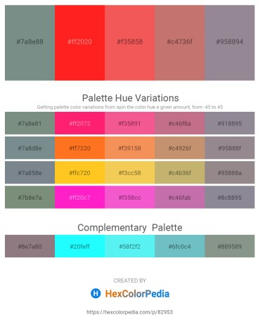 Palette image download - Slate Gray – Red – Tomato – Indian Red – Gray