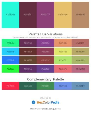 Palette image download - Aqua – Dark Slate Gray – Turquoise – Midnight Blue – Midnight Blue