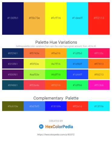 Palette image download - Midnight Blue – Sandy Brown – Yellow – Aqua – Red