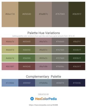 Palette image download - Dark Khaki – Dark Olive Green – Gray – Dim Gray – Dark Olive Green