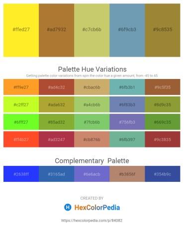 Palette image download - Yellow – Sienna – Dark Khaki – Cadet Blue – Salmon