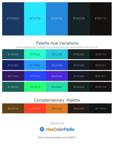 Palette image download - Midnight Blue – Aqua – Royal Blue – Dark Slate Gray – Black