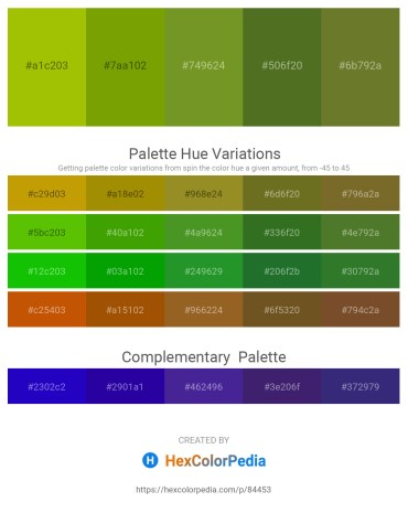 Palette image download - Light Steel Blue – Olive – Olive Drab – Olive Drab – Dark Olive Green