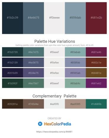 Palette image download - Dark Slate Gray – Slate Gray – White Smoke – Light Slate Gray – Brown