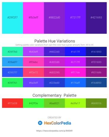Palette image download - Aqua – Turquoise – Blue Violet – Dark Violet – Midnight Blue