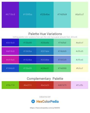 Palette image download - Blue Violet – Light Sea Green – Light Sea Green – Medium Aquamarine – Light Goldenrod Yellow