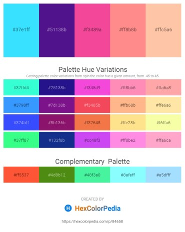 Palette image download - Aqua – Midnight Blue – Hot Pink – Light Salmon – Navajo White