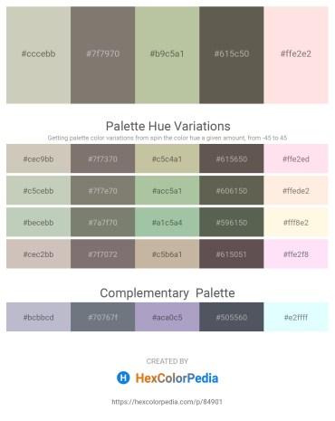 Palette image download - Silver – Gray – Dark Sea Green – Dim Gray – Misty Rose