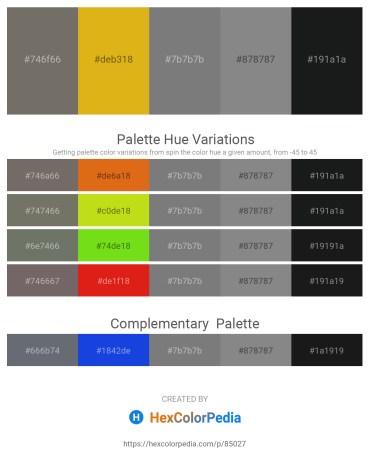 Palette image download - Dim Gray – Goldenrod – Gray – Gray – Dim Gray