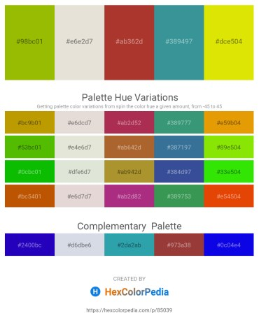 Palette image download - Olive – Gainsboro – Brown – Steel Blue – Gold