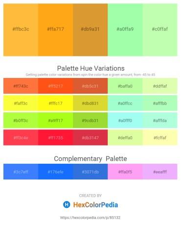 Palette image download - Sandy Brown – Orange – Goldenrod – Pale Green – Pale Green