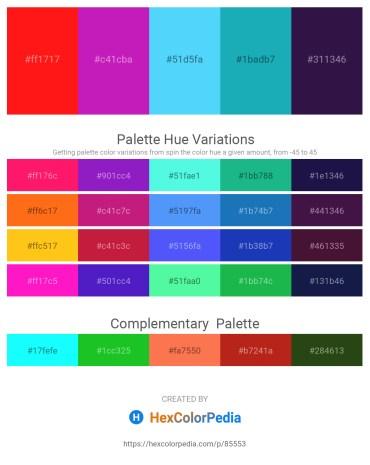 Palette image download - Red – Medium Violet Red – Light Sky Blue – Light Sea Green – Midnight Blue