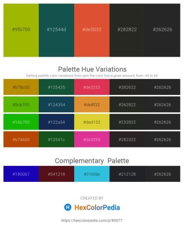 Palette image download - Olive – Steel Blue – Chocolate – Black – Black