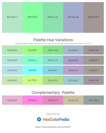 Palette image download - Powder Blue – Pale Green – Light Green – Light Steel Blue – Dark Gray