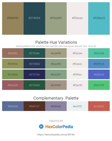 Palette image download - Dark Khaki – Dark Slate Gray – Dark Sea Green – White Smoke – Medium Turquoise