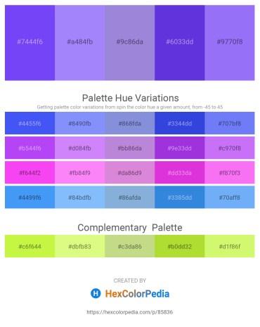 Palette image download - Medium Slate Blue – Medium Slate Blue – Medium Purple – Blue Violet – Medium Slate Blue