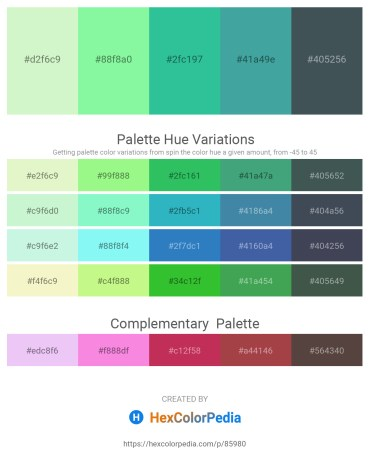 Palette image download - Light Goldenrod Yellow – Pale Green – Light Sea Green – Gray – Dark Slate Gray