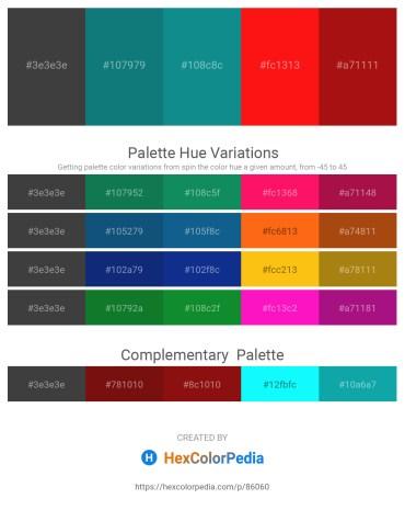 Palette image download - Dim Gray – Teal – Light Sea Green – Red – Firebrick