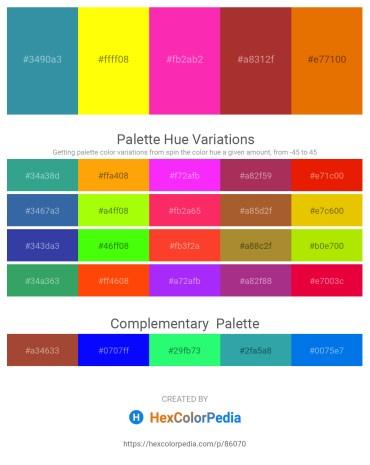 Palette image download - Steel Blue – Yellow – Deep Pink – Brown – Dark Orange