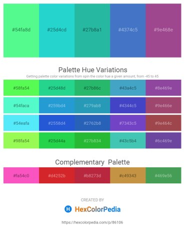 Palette image download - Pale Green – Turquoise – Light Sea Green – Steel Blue – Light Coral