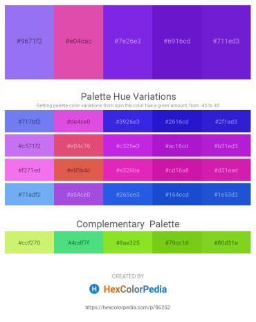 Palette image download - Medium Slate Blue – Pale Violet Red – Blue Violet – Blue Violet – Blue Violet