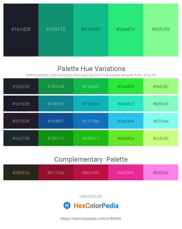 Palette image download - Dark Slate Gray – Dark Cyan – Light Sea Green – Spring Green – Pale Green