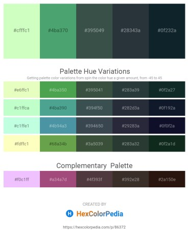 Palette image download - Honeydew – Medium Sea Green – Dark Slate Gray – Dark Slate Gray – Dark Slate Gray