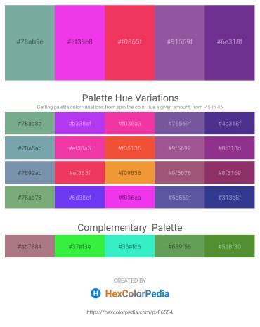 Palette image download - Cadet Blue – Magenta – Crimson – Dark Slate Blue – Dark Slate Blue