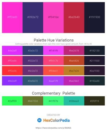Palette image download - Magenta – Dark Slate Blue – Hot Pink – Firebrick – Dark Goldenrod