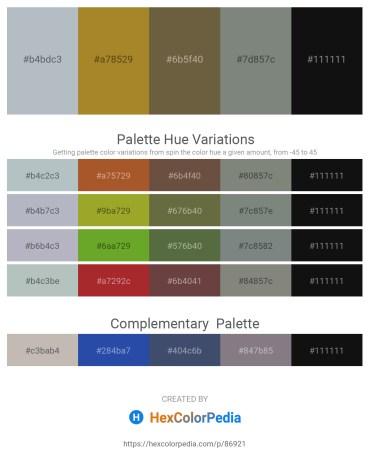 Palette image download - Light Steel Blue – Light Slate Gray – Dark Olive Green – Slate Gray – Black