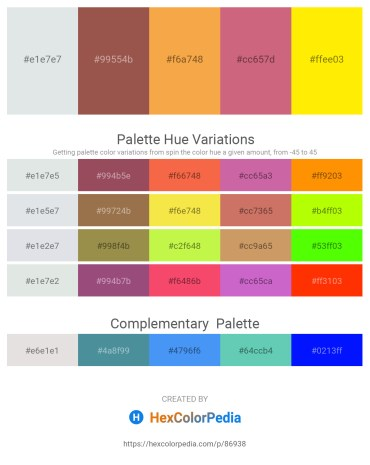 Palette image download - Light Steel Blue – Sienna – Sandy Brown – Indian Red – Yellow