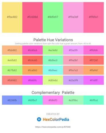 Palette image download - Navajo White – Hot Pink – Pale Green – Violet – Hot Pink